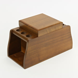 Fairfax walnut humidor with pipe holder rack
