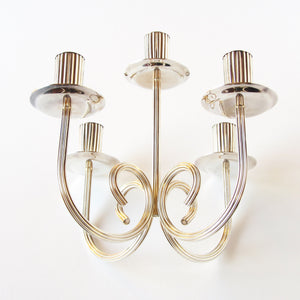 5 candle Gorham Silverplated Candelabras with curved base