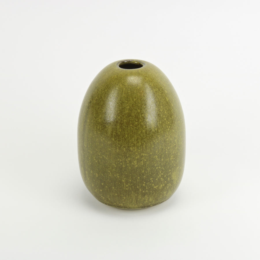 Green ceramic Japanese Melon Vase