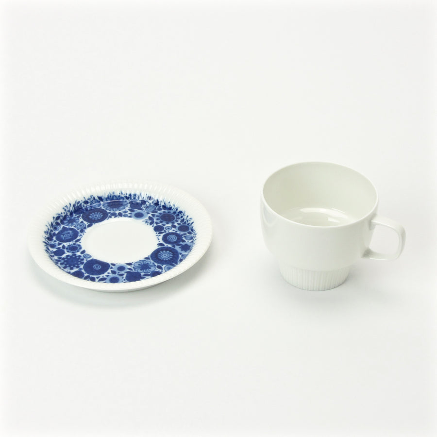Rosenthal cup and saucer with blue floral design