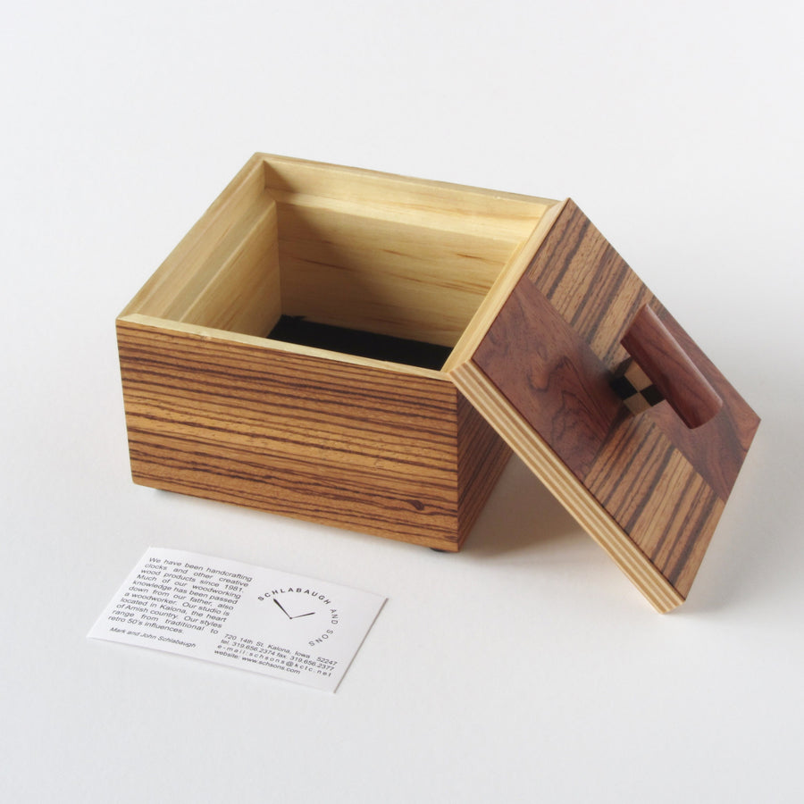 Schlabaugh and Sons exotic wood jewlery box