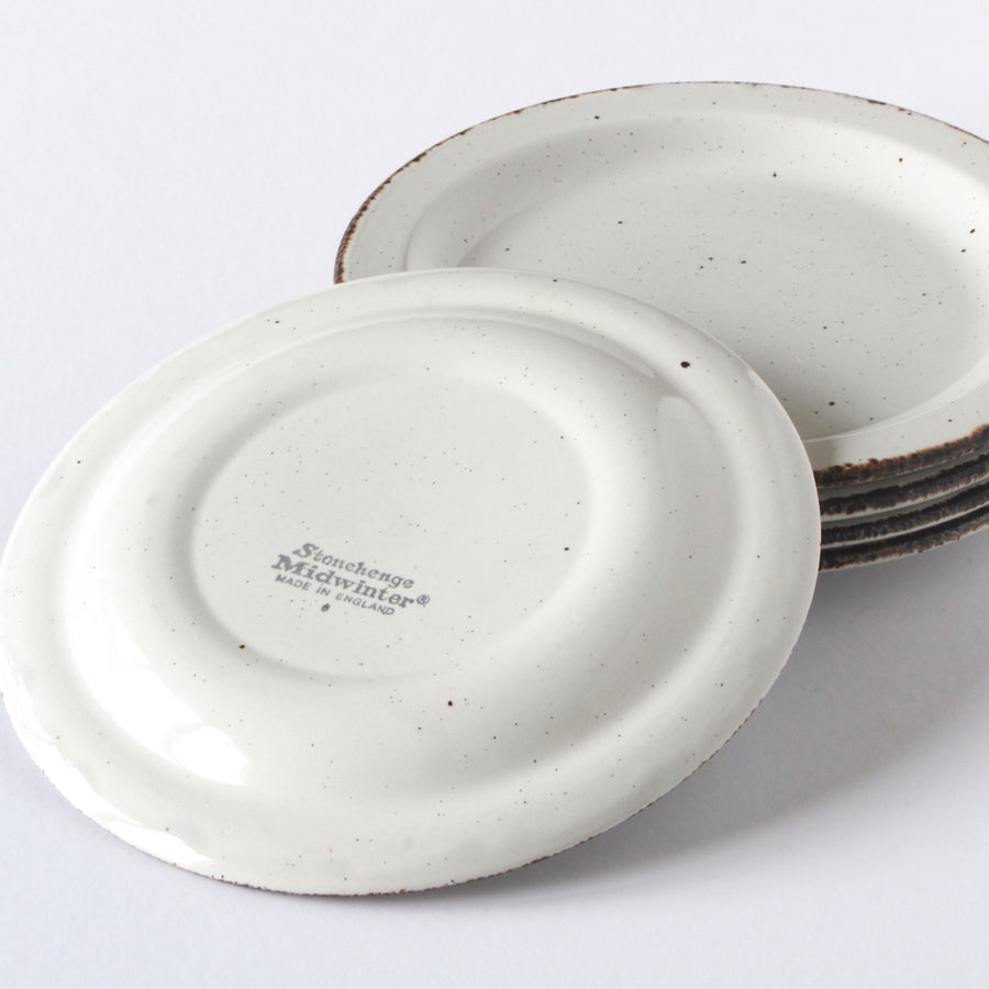 Set of 5 replacement Stonehenge Midwinter salad and bread plates