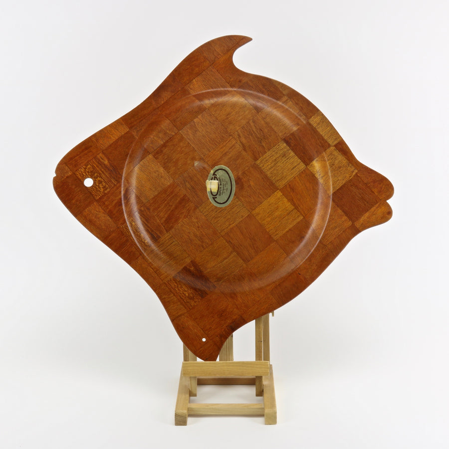 Super Wood woven teak fish shaped serving tray
