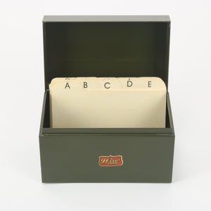 Weis Card File Olive Green