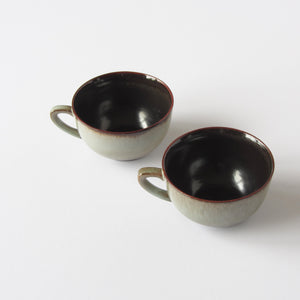 Vitnage West German Tea Cups with two tone glaze
