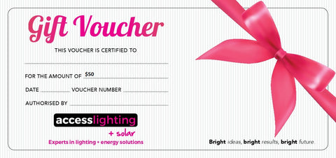 Lighting Gift Cards - the perfect Gift Idea!.
