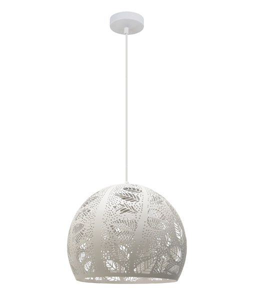 BOTANICA: Embossed Dome Shape Pendant Lights.