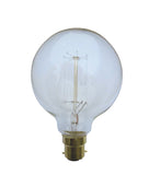 Carbon Filament G125 25w 125mm Spherical Lamp - CLA Lighting