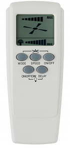 R-FRM98 Dimmable LCD RF Remote Controller  - Mercator