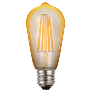 Lusion- 8w LED Amber ST64 Dimmable.
