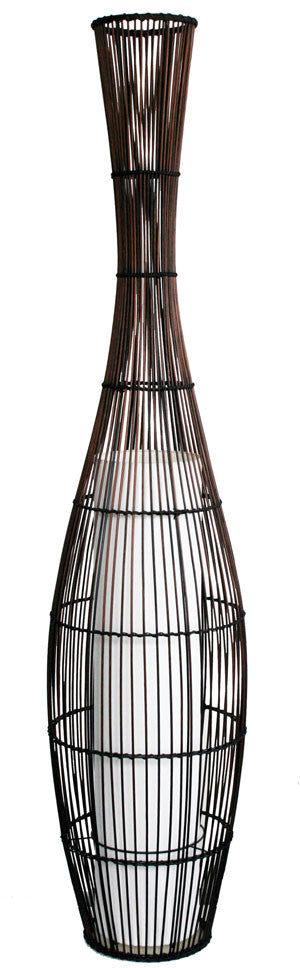 Pekan Bamboo Floor Lamp - Oriel Lighting