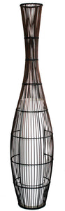 Pekan Bamboo Floor Lamp - Oriel Lighting.