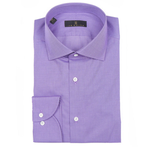 Milano Lavender Mini Houndstooth Dress Shirt