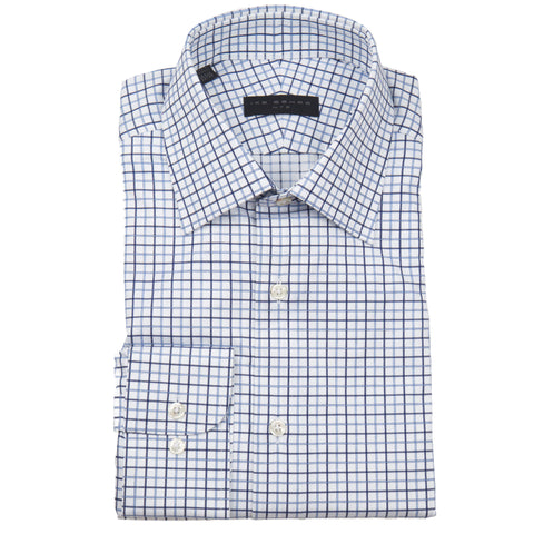 Crosby Blue Tattersall Dress Shirt