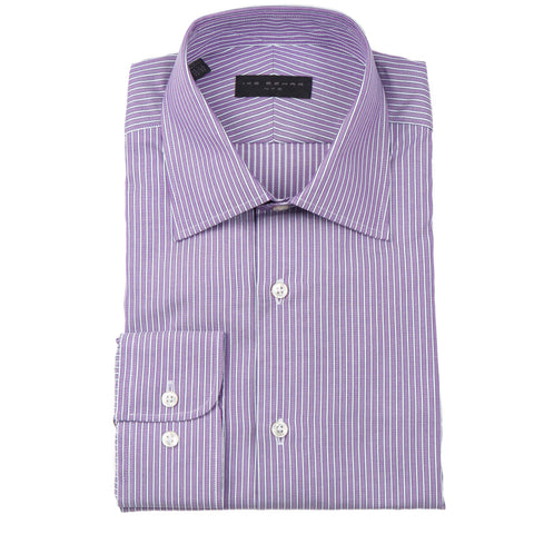 Crosby Purple Stripe Dress Shirt