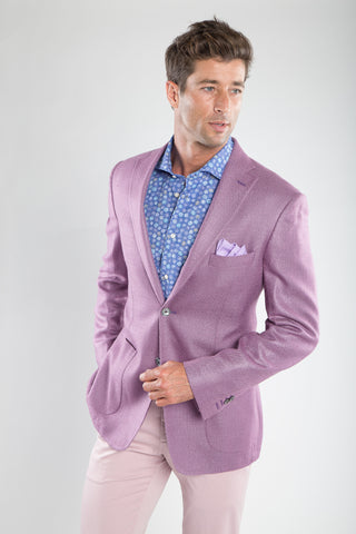 Plum Textured Solid Sport Coat