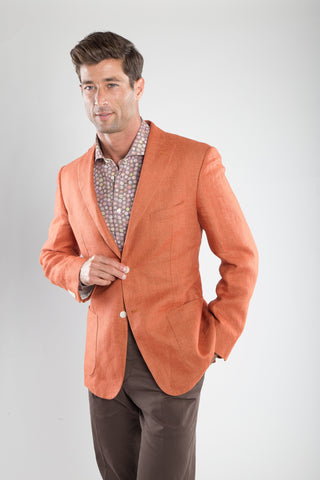Washed Linen Sport Coat