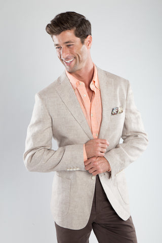 Tan Soft Linen Sport Coat
