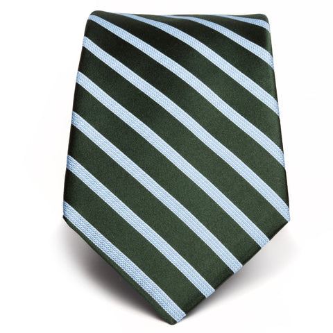 Satin Double Stripe Tie