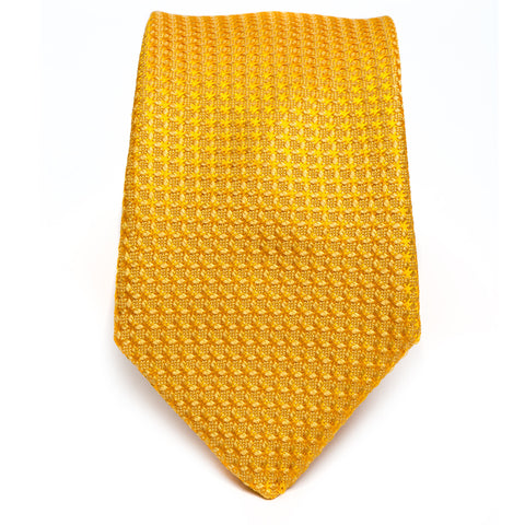 Weave Color on Color Yellow Tie
