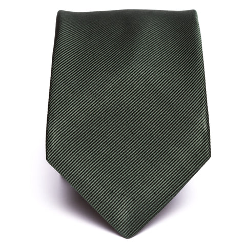 Solid Twill Weave Green Tie