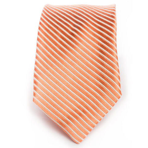 Orange Solid Satin Stripe