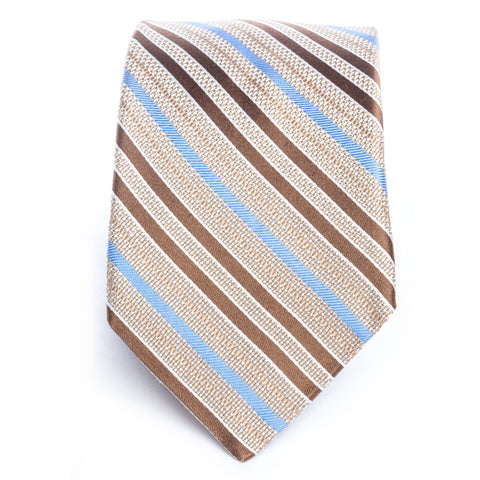 Brown Blue Multi Stripe