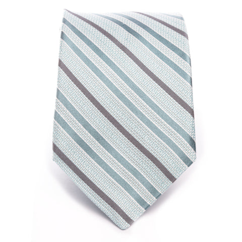 Gray Teal Multi Stripe