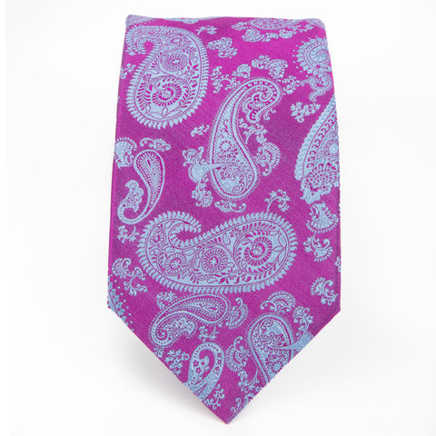 Purple Blue Preakness Paisley Tie