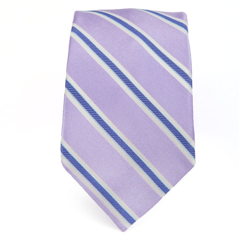Royal Oak Stripe Blue Lavender Tie