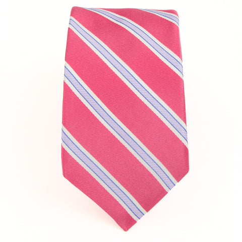 Pink Lavender Royal Oak Stripe Tie