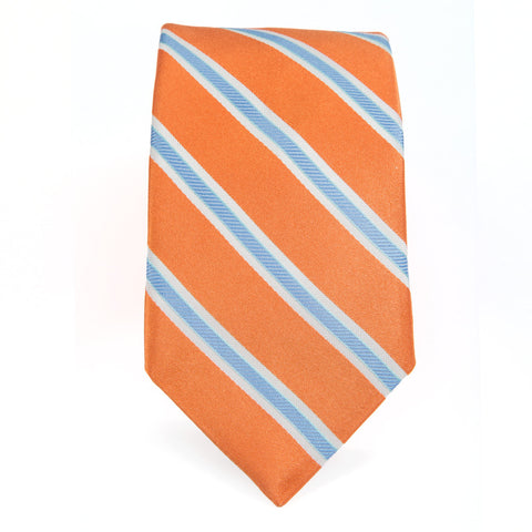 Orange Blue Royal Oak Stripe Tie