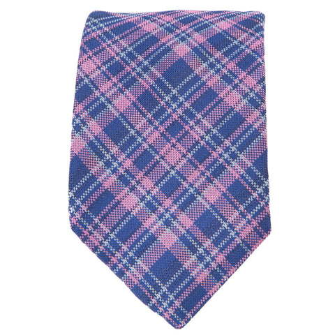 Blue Pink Wardrobe Plaid Tie
