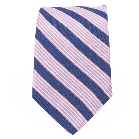 Blue Pink Wardrobe Stripe Tie