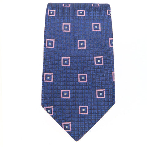 Blue Pink Wardrobe Square Tie