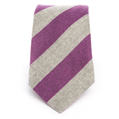 Purple Gray Wool Flannel Stripe