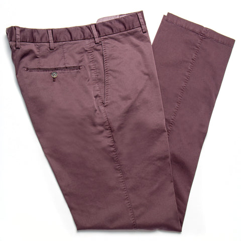 Enzyme Washed Burgandy Cotton Pants
