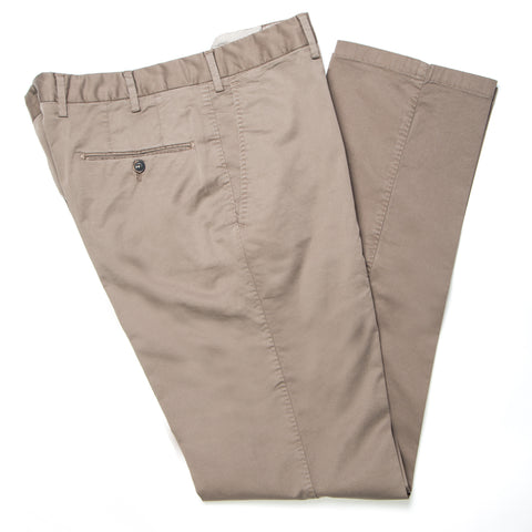 Enzyme Washed Taupe Cotton Pants