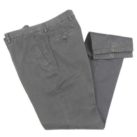 Brushed Twill Cotton/Cashmere Charcoal Casual Pant
