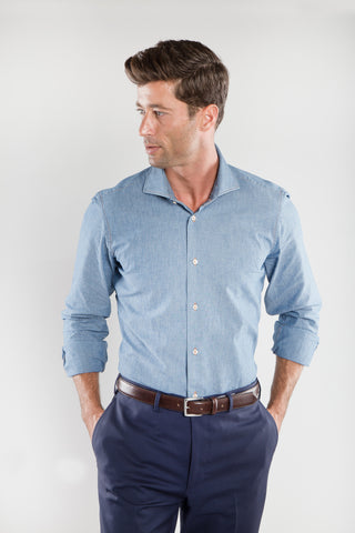 Ricky Light Chambray Sport Shirt