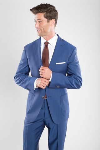 Cobalt Blue Shark Skin Suit