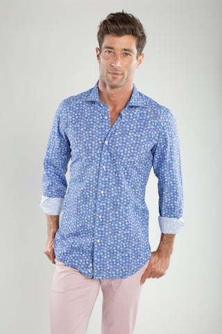 Ricky Indigo Ground Floral Sport Shirt