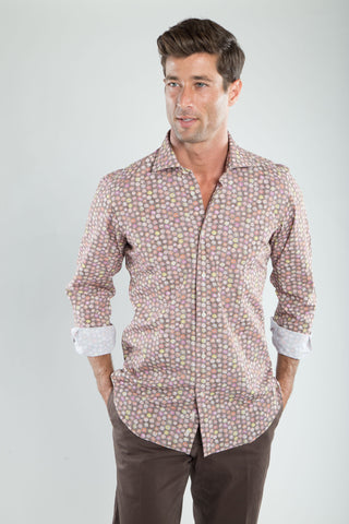 Ricky Brown Floral Print Sport Shirt