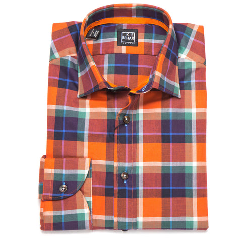 Ricky Orange Navy Plum Tarten Plaid