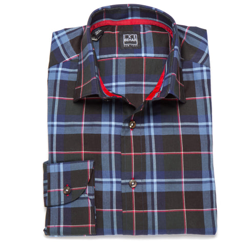 Ricky Navy Forrest Red Tarten Plaid