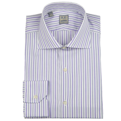 Milano Lavender Satin Stripe Dress Shirt