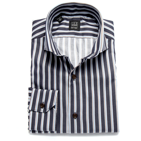 Frederick Navy Multi Stripe Sport Shirt