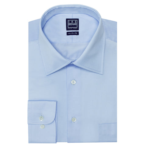 Crosby Light Blue Twill Dress Shirt