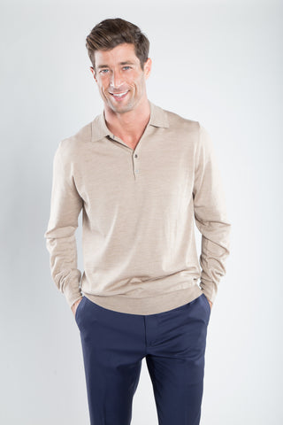 Classic Polo Light Tan Color Sweater