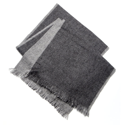 Soft Cashmere Charcoal Gray Scarf